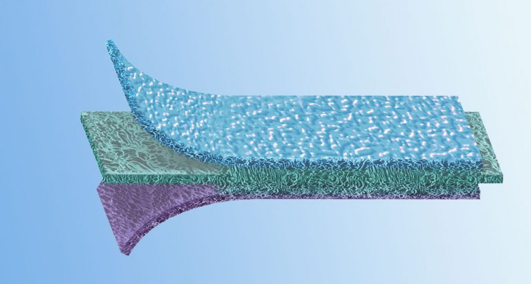 patented multilayer architecture of different pore cavities